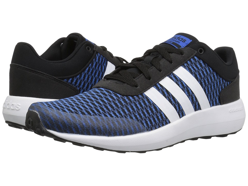 adidas - Cloudfoam Race (Core Black/Footwear White/Blue) Men's Shoes