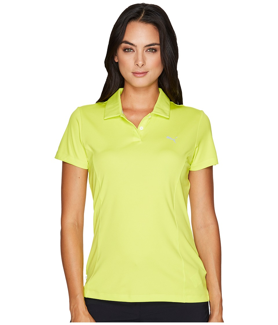PUMA Golf - Pounce Polo (Nrgy Yellow) Women's Short Sleeve Pullover