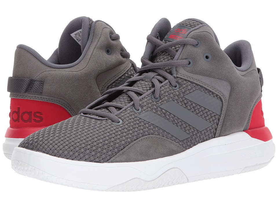 adidas - Cloudfoam Revival Mid (Grey Five/Grey Five/Scarlet) Men's Basketball Shoes