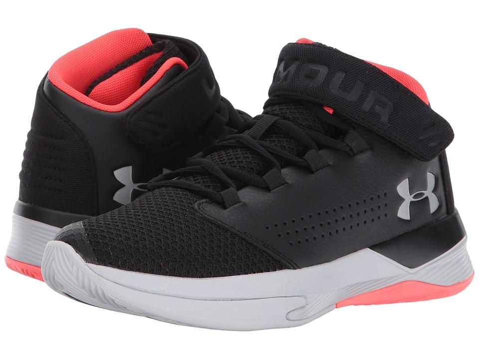 Under Armour Kids UA BGS Get B Zee Basketball (Big Kid) (Black/Marathon Red/Glacier Grey) Boys Shoes