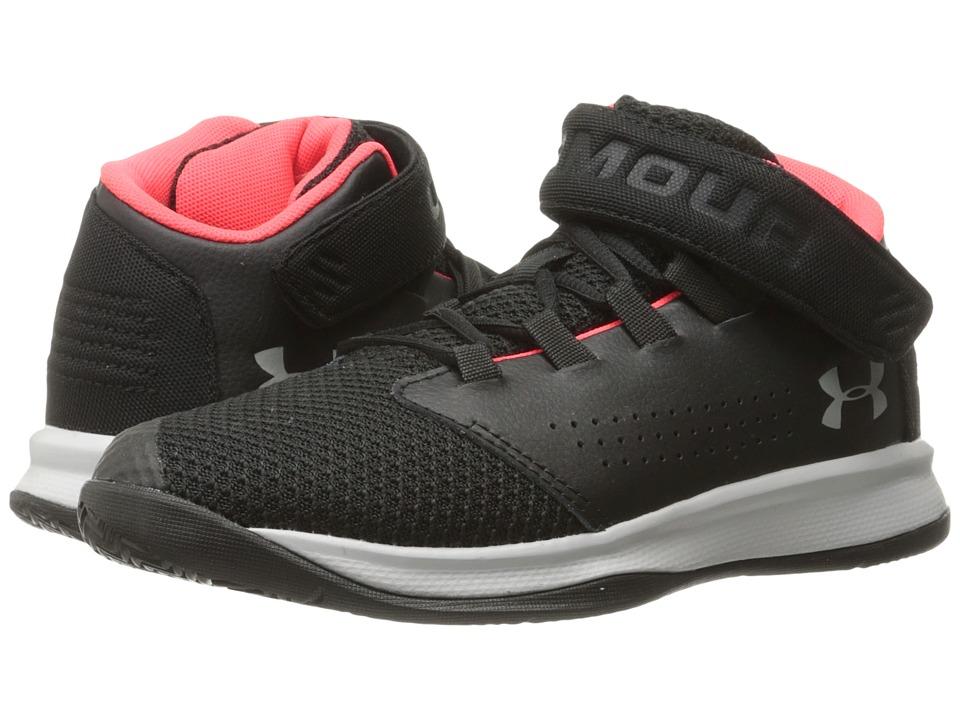 Under Armour Kids UA BPS Get B Zee Basketball (Little Kid) (Black/Marathon Red/Glacier Grey) Boys Shoes