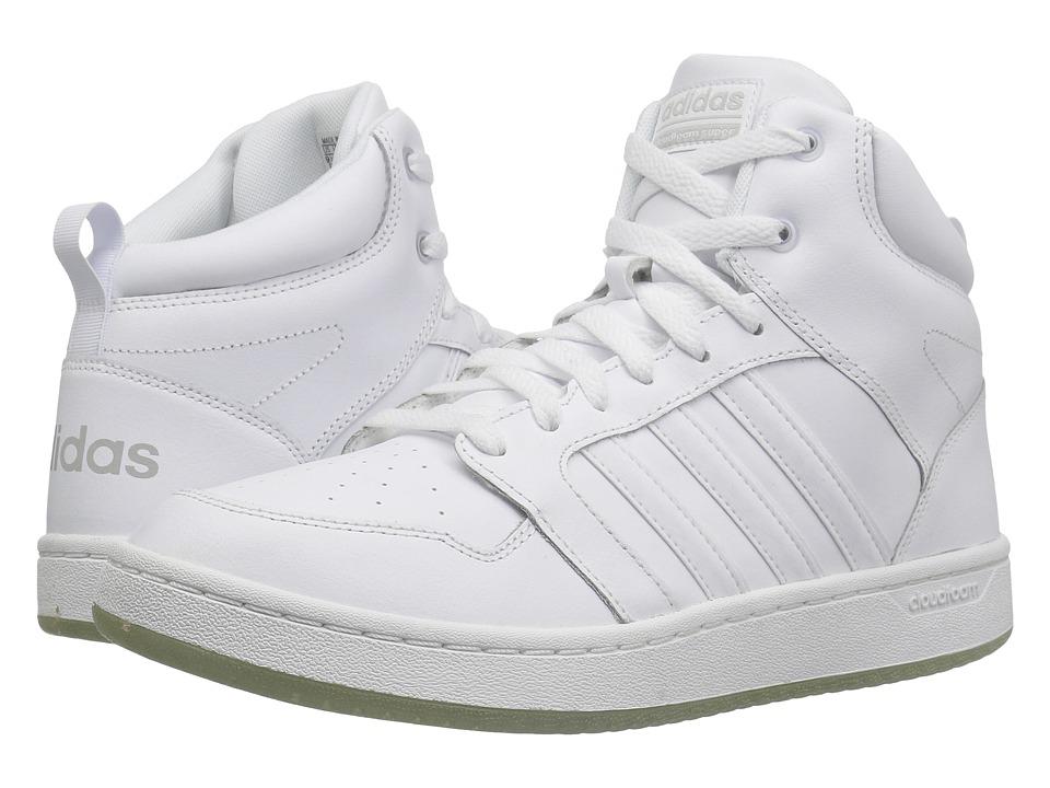 adidas Cloudfoam Super Hoops Mid (Footwear White/Footwear White/Grey Two) Men