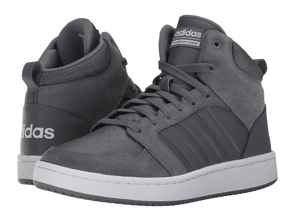 adidas - Cloudfoam Super Hoops Mid (Grey Four/Grey Four/Crystal White) Men's Basketball Shoes