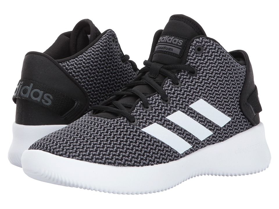 adidas - Cloudfoam Refresh Mid (Core Black/Footwear White/Grey Five) Men's Basketball Shoes
