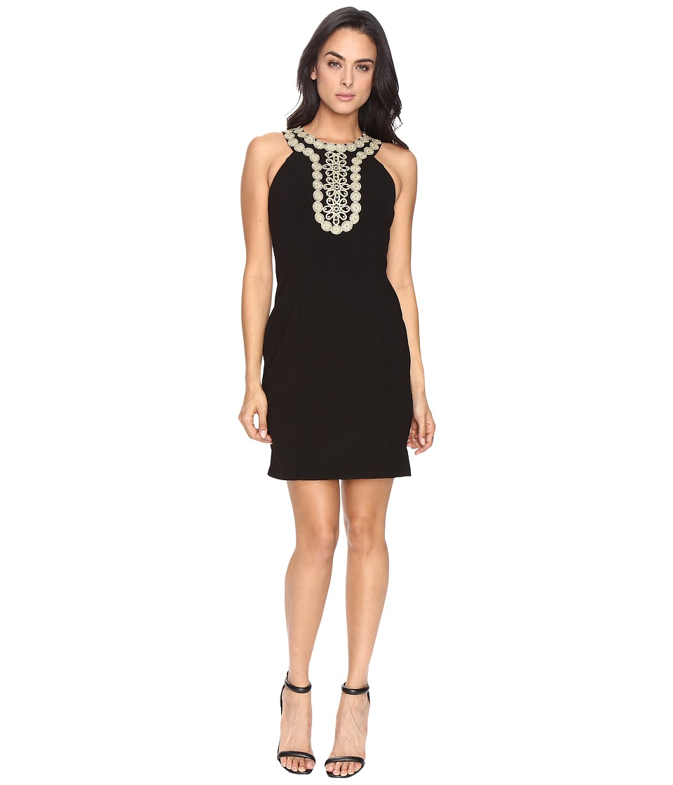 Taylor - Stretch Crepe Sheath Dress (Black) Women's Dress