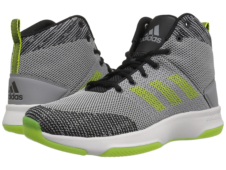 adidas - Cloudfoam Executor Mid (Grey Five/Semi Solar Yellow/Grey Two) Men's Basketball Shoes