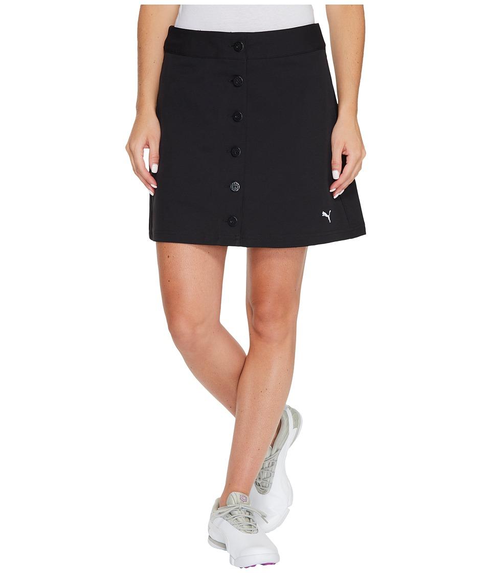 PUMA Golf Pounce Skirt 18 (Black) Women