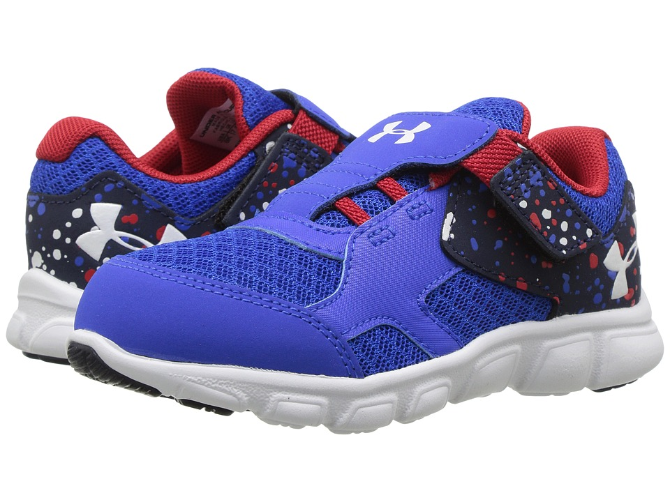 Under Armour Kids UA BINF Thrill RN AC (Infant/Toddler) (Ultra Blue/Red/White) Boys Shoes