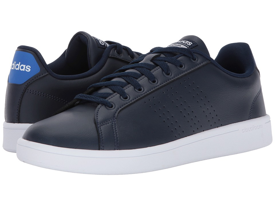 adidas - Cloudfoam Advantage Clean (Collegiate Navy/Collegiate Navy/Blue) Men's Court Shoes