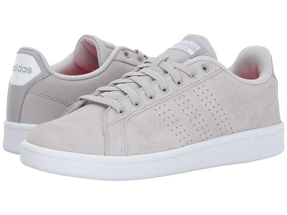 adidas - Cloudfoam Advantage Clean (Grey Two/Grey Two/Solar Red) Men's Court Shoes