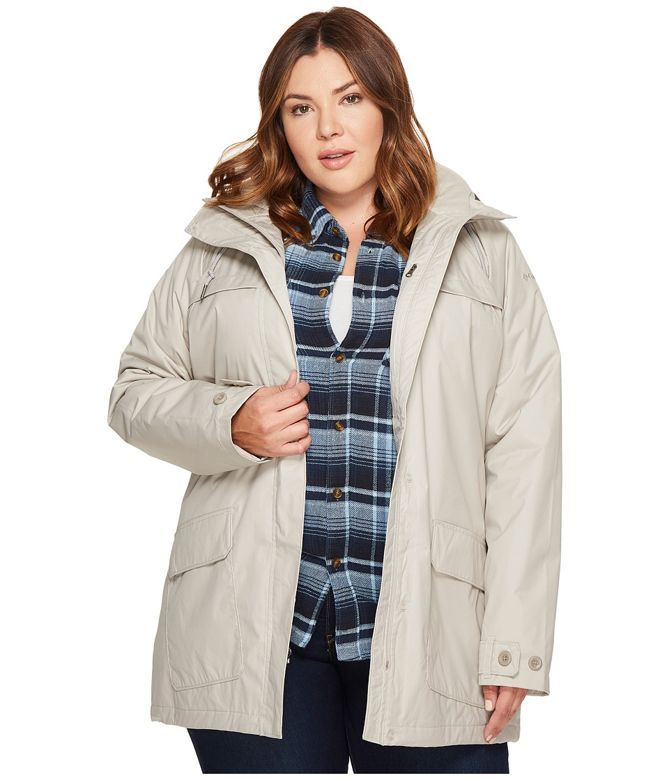 Columbia Plus Size Lookout Crest Jacket (Light Cloud) Women
