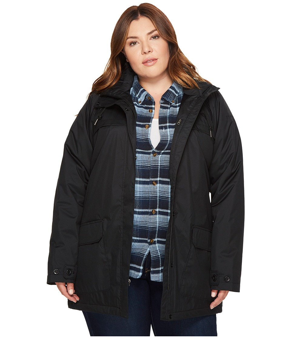 Columbia Plus Size Lookout Crest Jacket (Black) Women