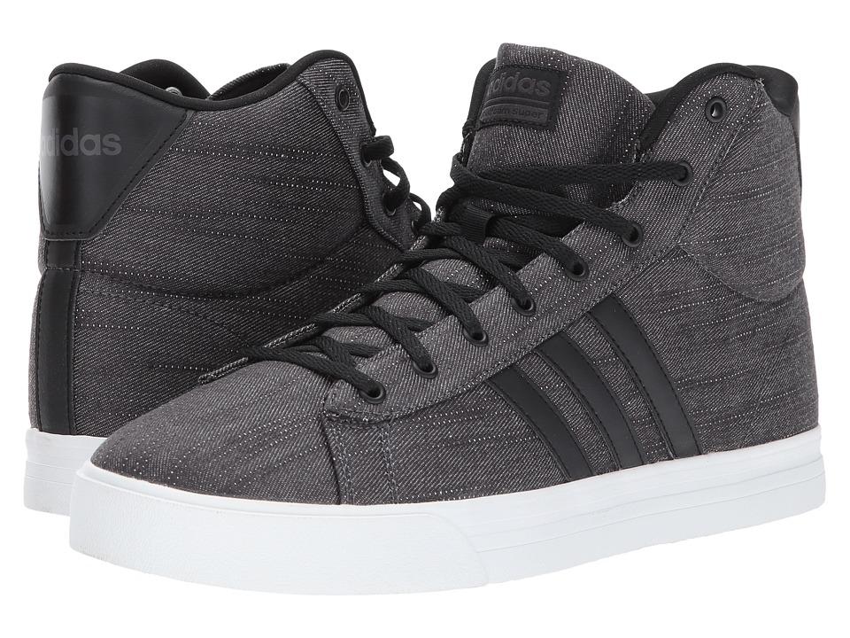 adidas - Cloudfoam Super Daily Mid (Core Black/Core Black/Utility Black) Men's Skate Shoes