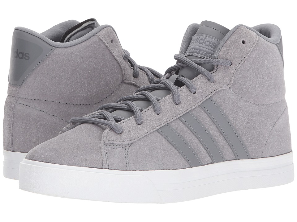 adidas - Cloudfoam Super Daily Mid (Grey Three/Grey Three/Grey Four) Men's Skate Shoes