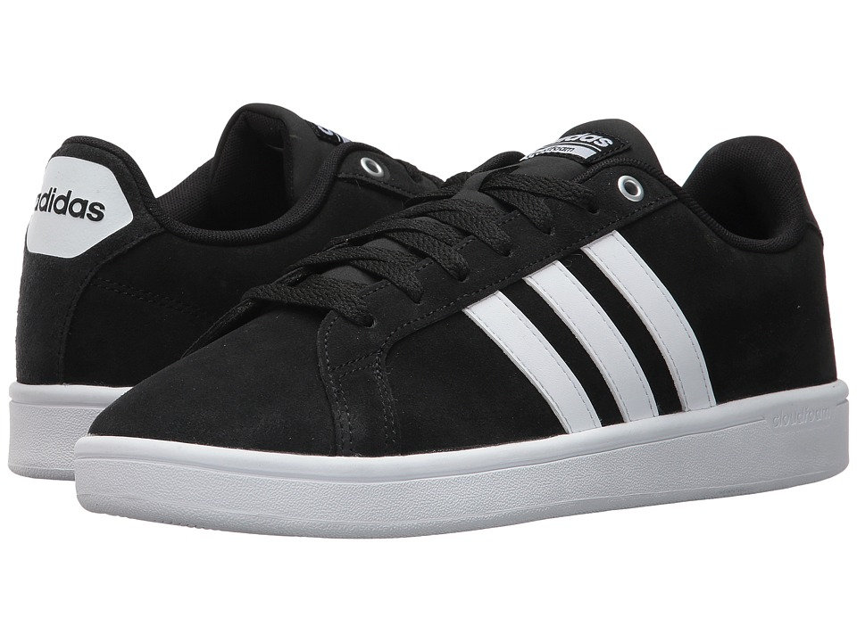 adidas - Cloudfoam Advantage (Core Black/Footwear White/Matte Silver) Men's Court Shoes