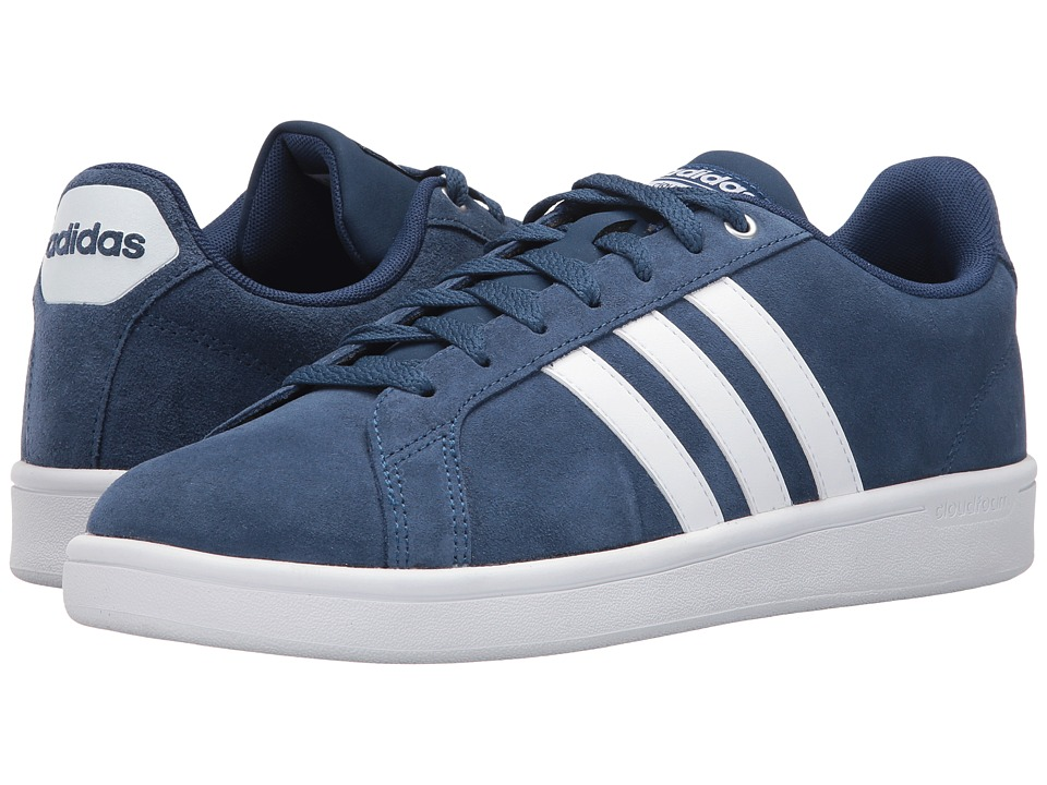 adidas - Cloudfoam Advantage (Mystery Blue/Footwear White/Matte Silver) Men's Court Shoes