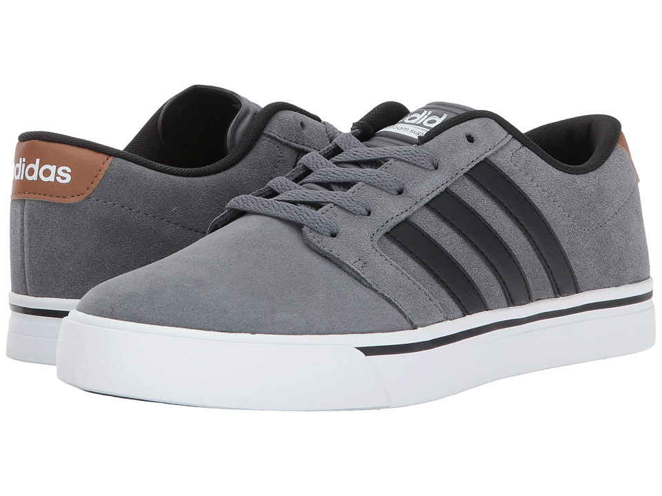 adidas - Cloudfoam Super Skate (Grey Four/Core Black/Timber) Men's Skate Shoes