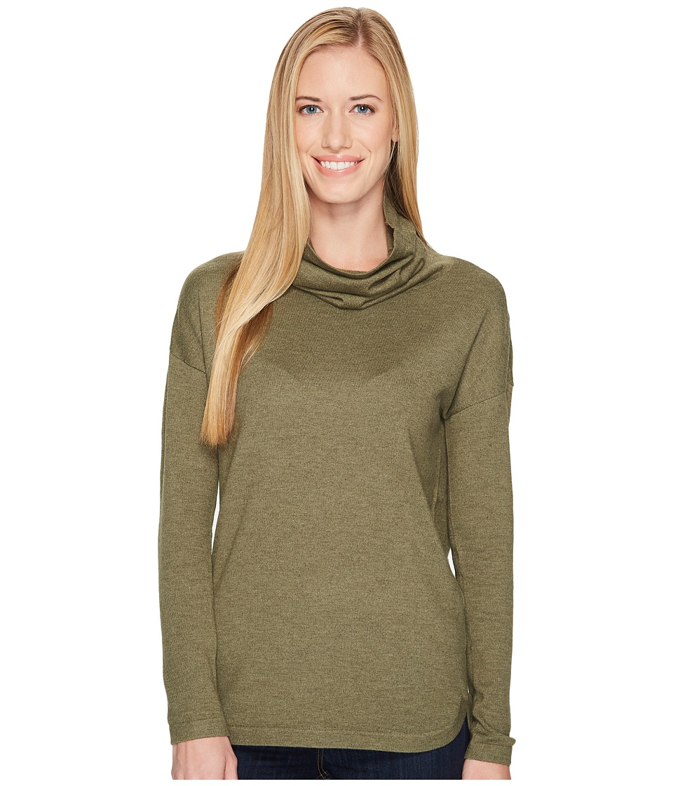 The North Face Woodland Sweater Tunic (Burnt Olive Green Heather) Women