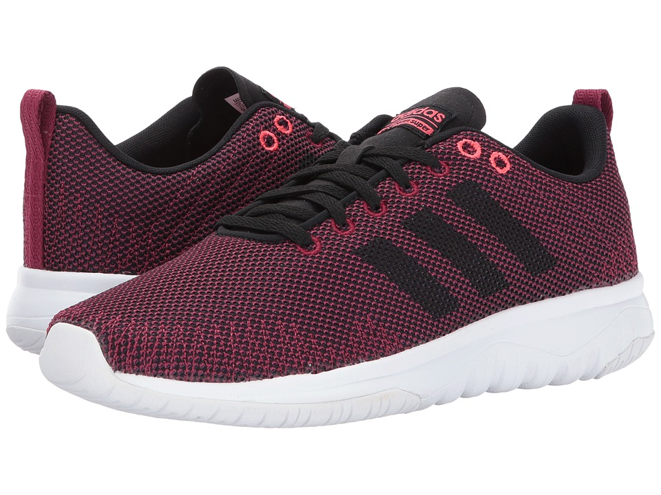 adidas - Cloudfoam Super Flex (Mystery Ruby/Core Black/Shock Red) Women's Running Shoes