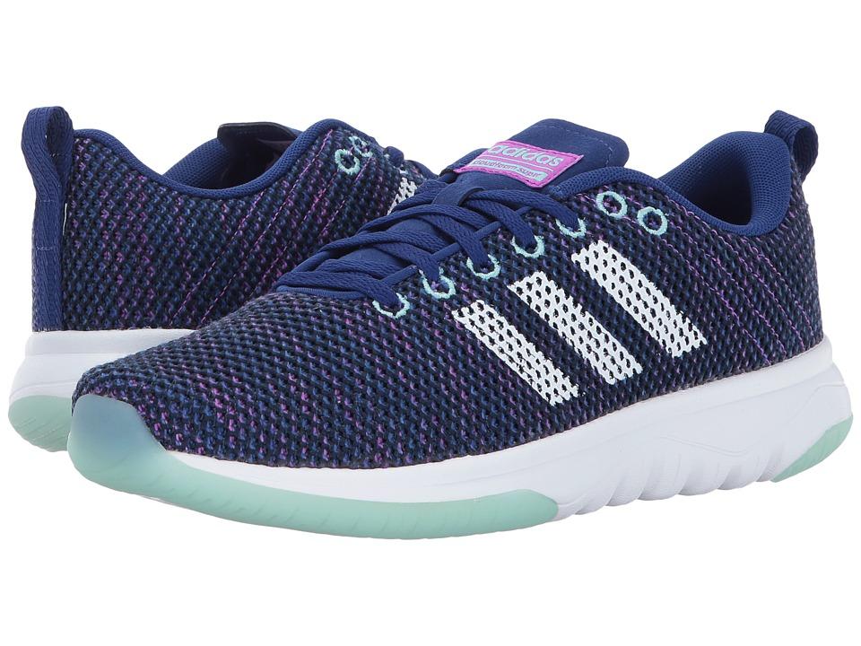 adidas - Cloudfoam Super Flex (Mystery Ink/Footwear White/Energy Aqua) Women's Running Shoes