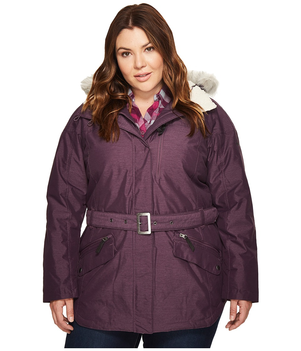 Columbia Plus Size Carson Pass II Jacket (Dusty Purple 1) Women