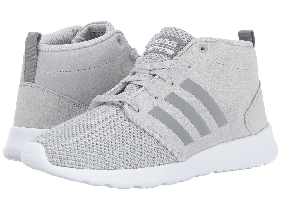 adidas - Cloudfoam QT Racer Mid (Grey Two/Grey Three/Crystal White) Women's Running Shoes