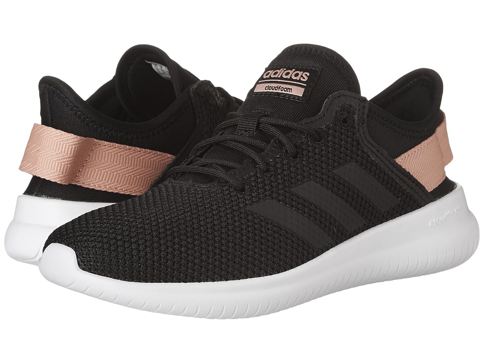 adidas - Cloudfoam QT Flex (Core Black/Core Black/Trace Pink) Women's Running Shoes