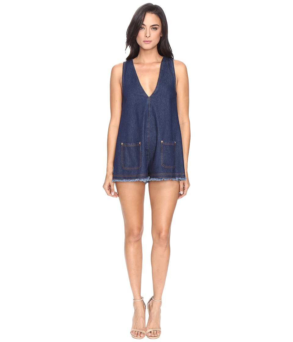 alice McCALL - S.O.S Playsuit (Denim 2) Women's Jumpsuit & Rompers One Piece