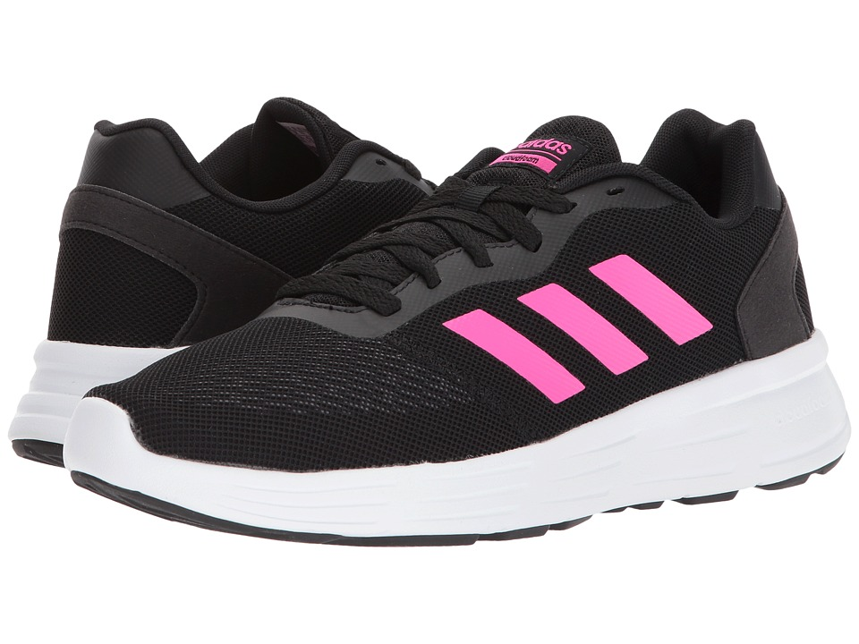 adidas - Cloudfoam Revolver (Core Black/Shock Pink/Grey Three) Women's Running Shoes