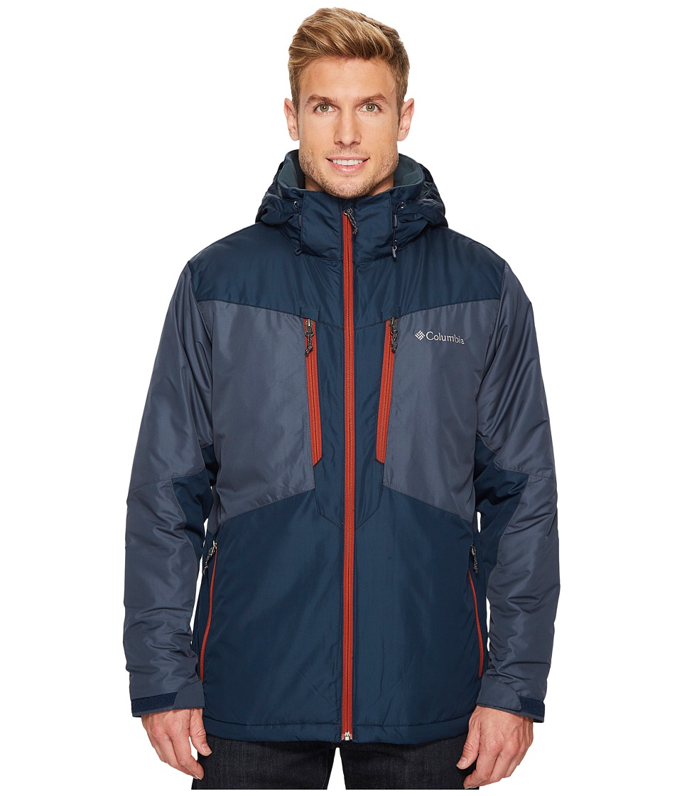 Columbia - Antimonytm Jacket (Mystery/Collegiate Navy/Rusty) Men's Coat