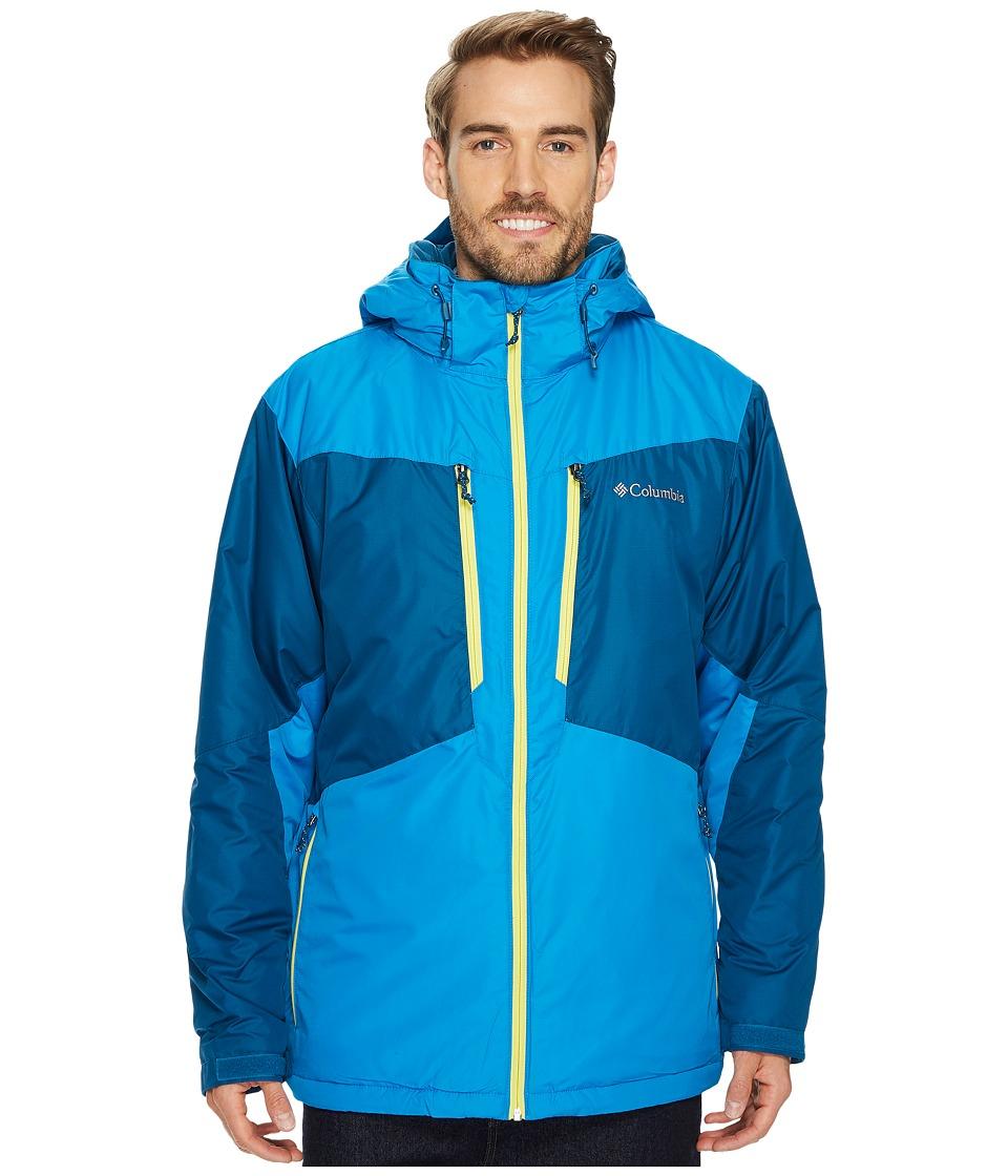 Columbia - Antimonytm Jacket (Phoenix Blue/Dark Compass/Acid Yellow) Men's Coat