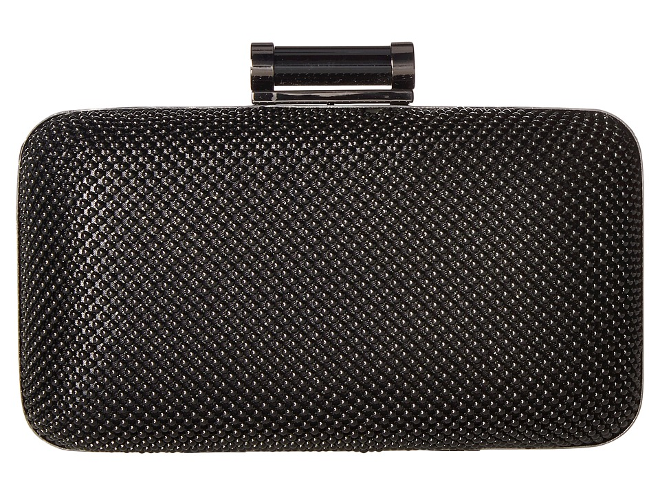 Jessica McClintock - Tiffany Ball Mesh Minaudiere (Black) Handbags