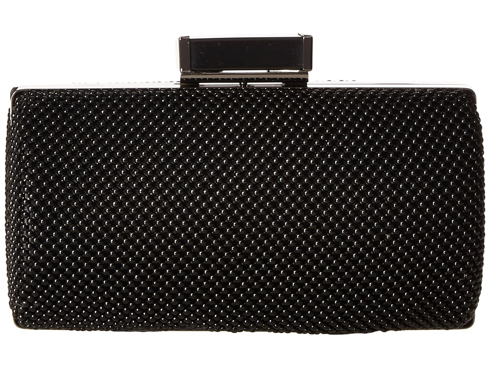 Jessica McClintock - Christiana Ball Mesh Minaudiere (Black) Handbags