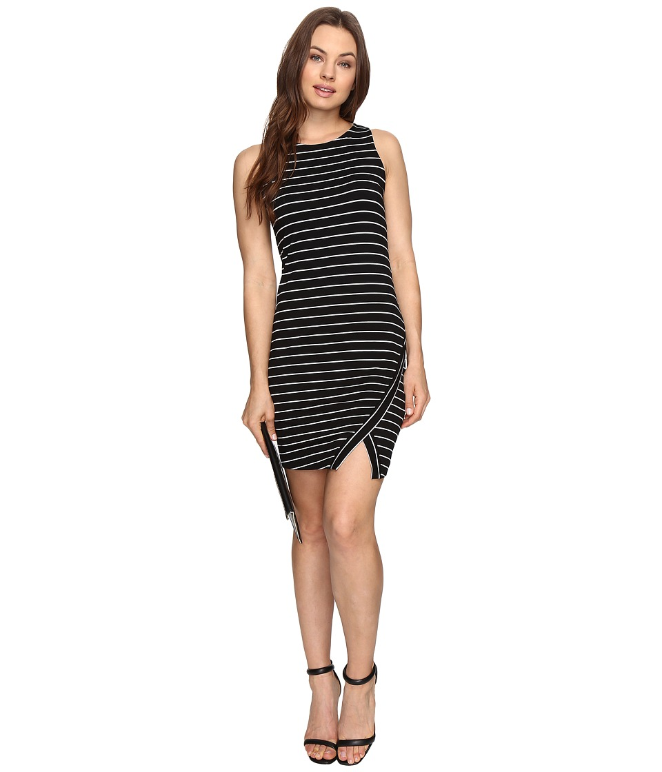 kensie - Lightweight Viscose Spandex Dress and Side Slit KS6K7219 (Black Combo) Women's Dress