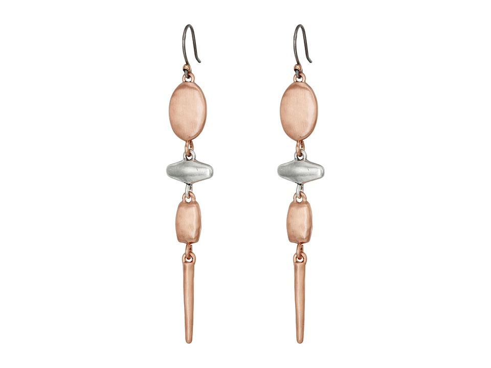 Lucky Brand - Organic Linear Earrings (Two-Tone) Earring