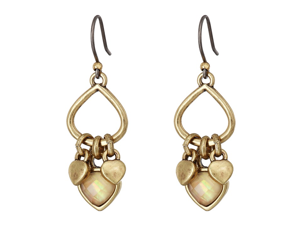 Lucky Brand - Openwork Drop Earrings (Gold) Earring
