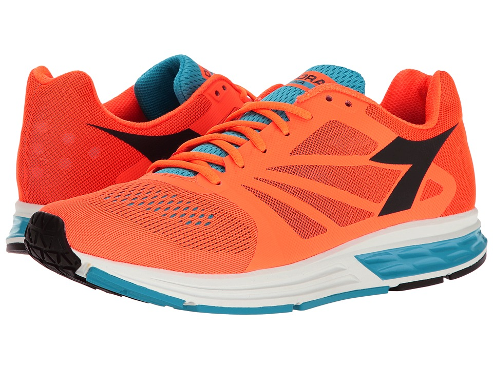 Diadora - Kuruka (Light Orange Fluo/Cyan Blue Fluo) Men's Shoes