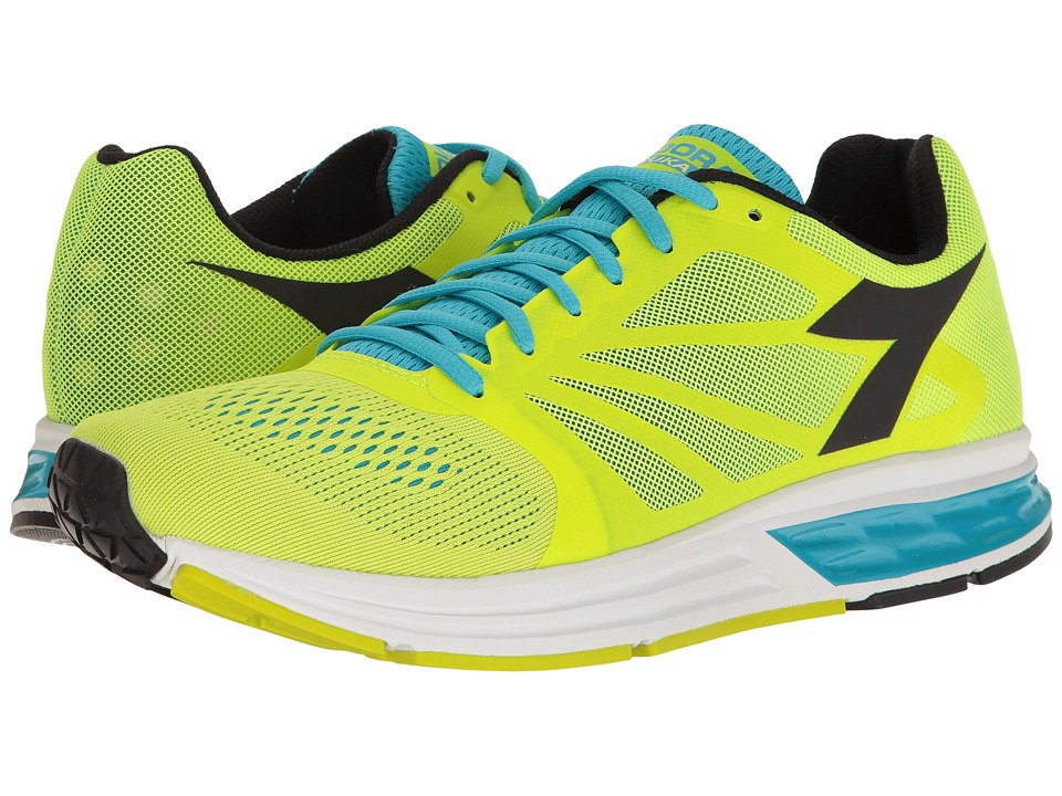 Diadora - Kuruka (Fluo Yellow/Fluo Blue/Black) Men's Shoes
