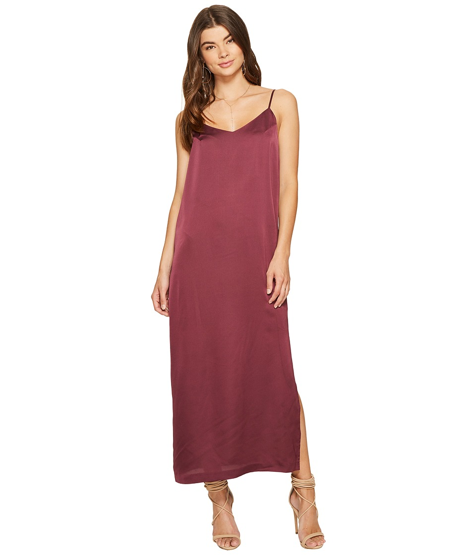 kensie - Shiny Polyester Dress KS7U7133 (Berry Stain) Women's Dress