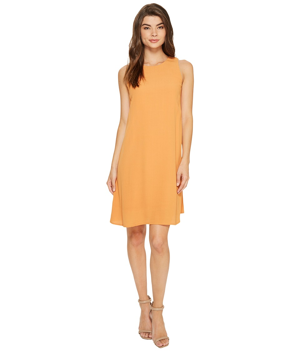 kensie - Dainty Crepe Sleeveless Dress KS7K7994 (Burnt Orange) Women's Dress