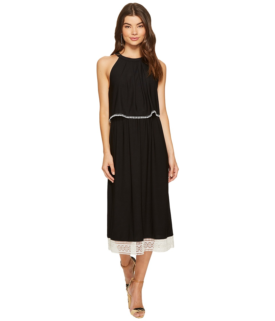 kensie - Slinky Knit Midi Dress KS7K7991 (Black Combo) Women's Dress