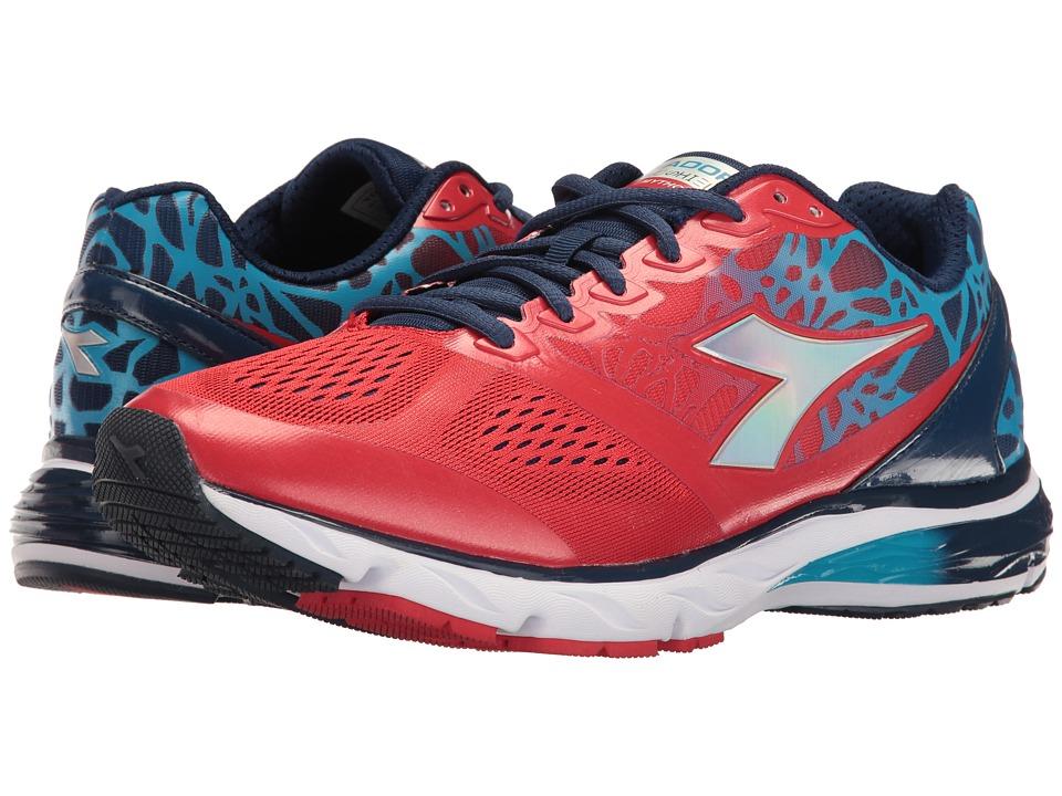 Diadora - Mythos Blushield (Red/Blue/Dark Denim) Men's Shoes