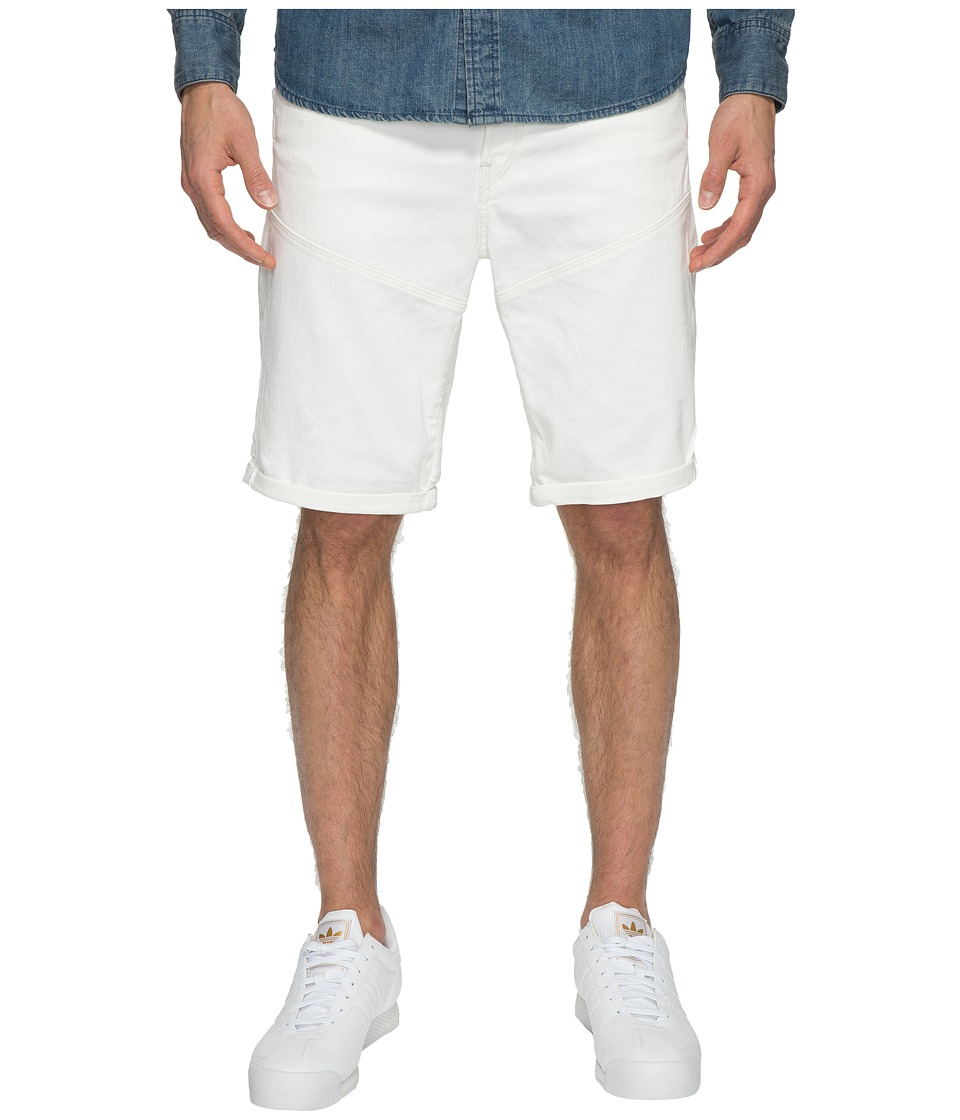 G-Star - 5621 3D Tapered 1/2 Shorts (Inza White Stretch Denim) Men's Shorts