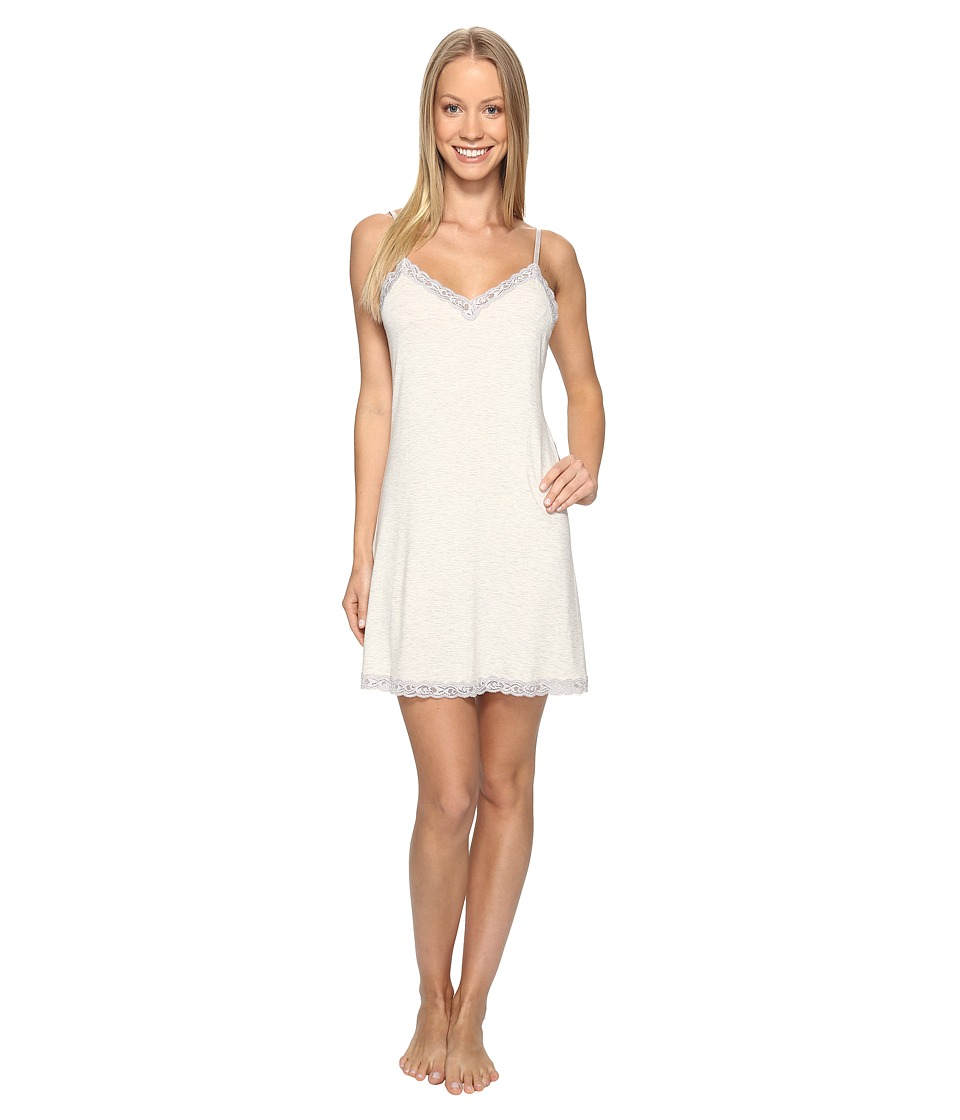 Natori - Feathers Chemise (Heather Pebble Stone) Women's Pajama
