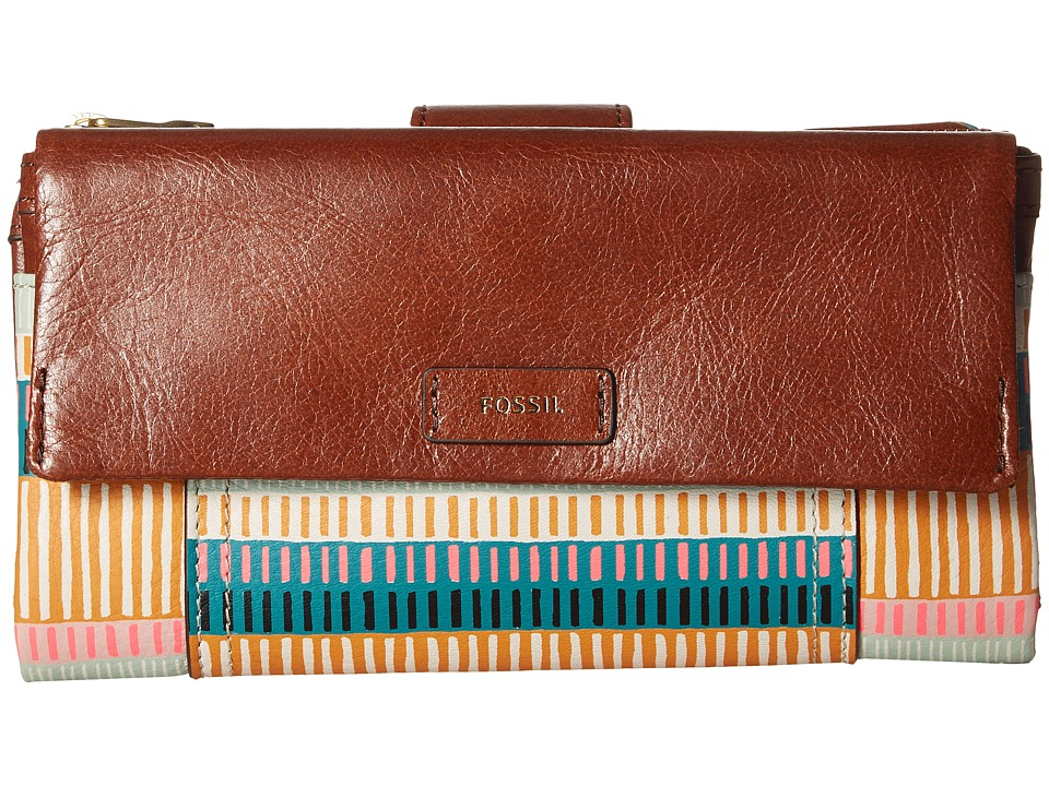 Fossil - Ellis Clutch (Colorful Stripes) Clutch Handbags