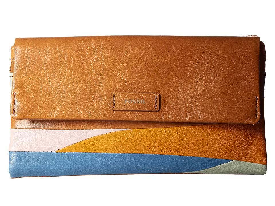 Fossil - Ellis Clutch (Patchwork) Clutch Handbags