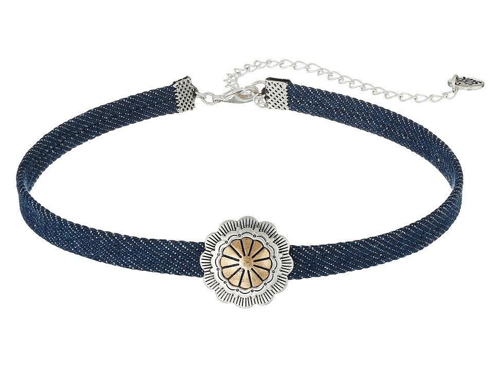 The Sak - Concho Choker Necklace 13 (Denim) Necklace
