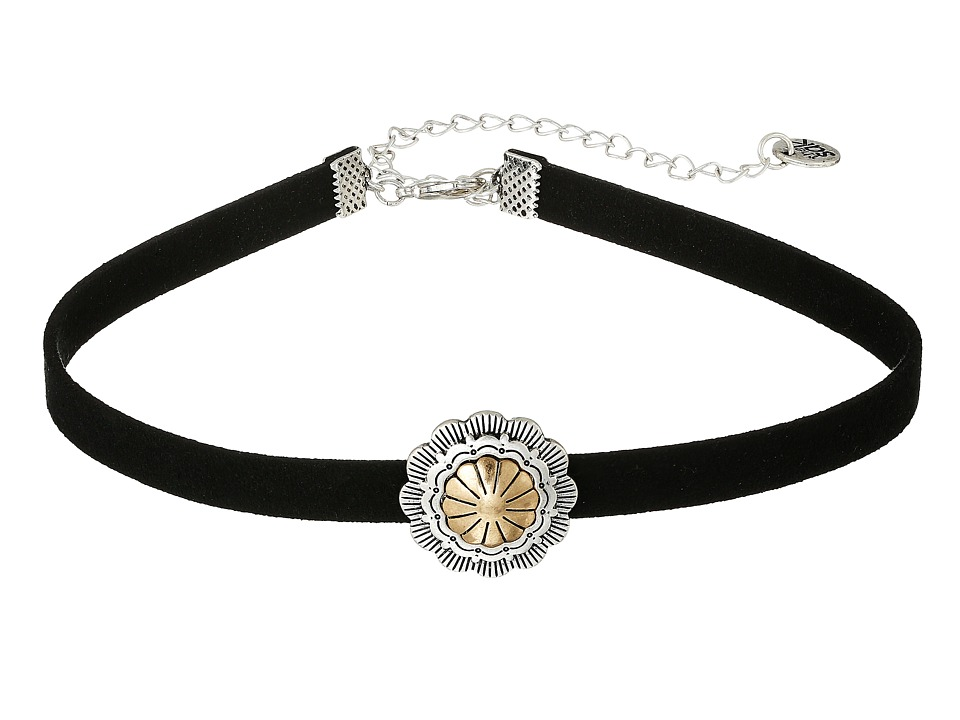 The Sak - Concho Choker Necklace 13 (Black/Two-Tone) Necklace