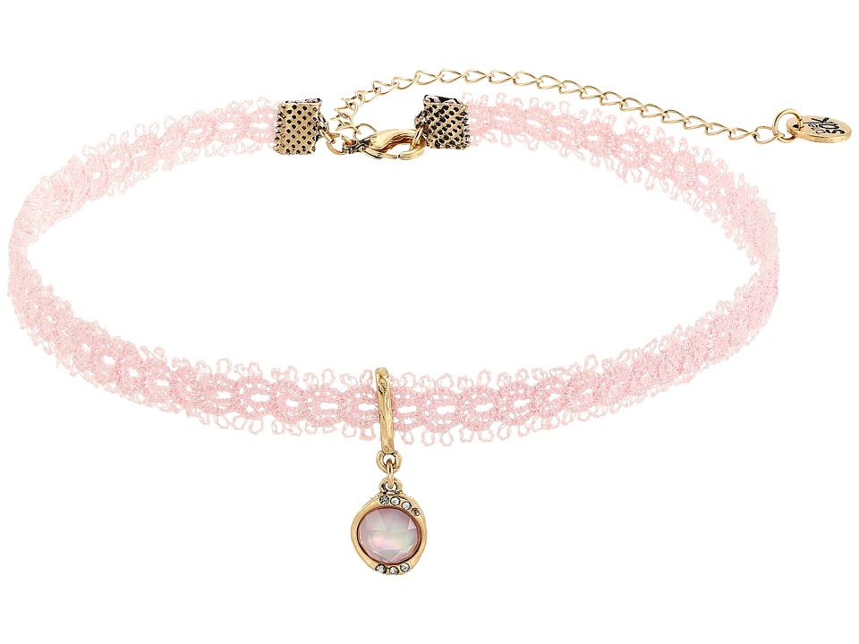The Sak - Stone Choker Necklace 13 (Pink) Necklace