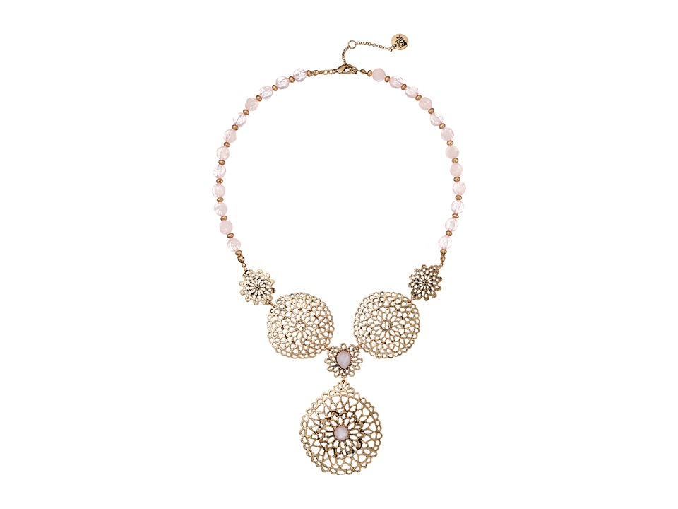 The Sak - Lace Drama Bib Necklace 18 (Pink) Necklace